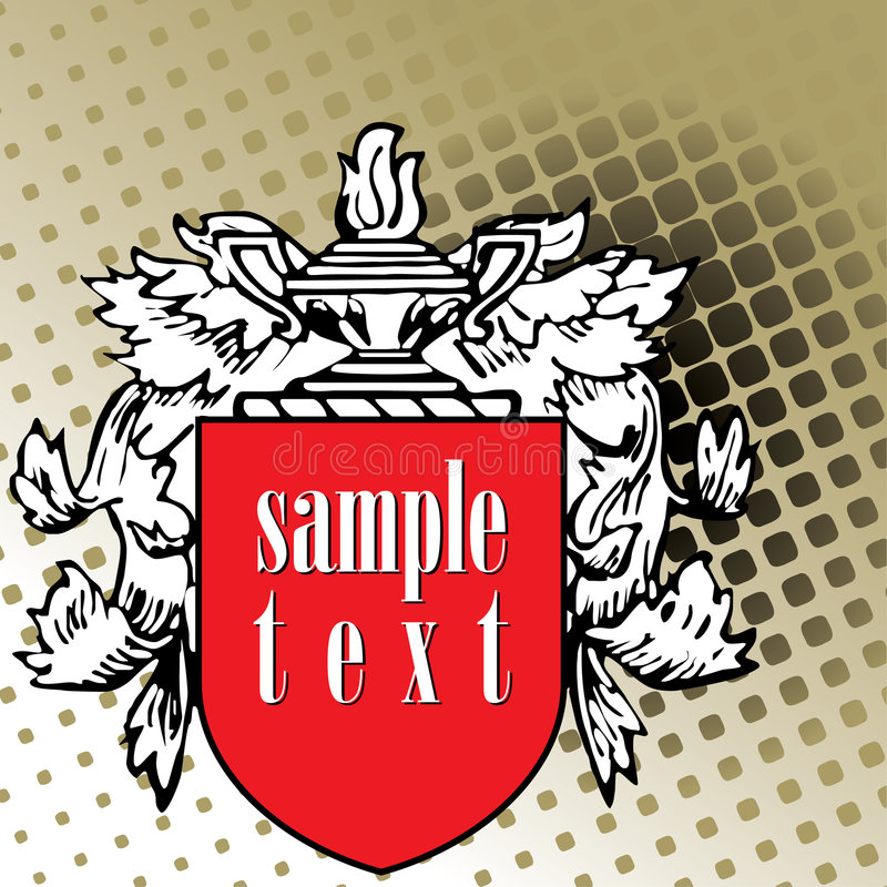 Download Crest Element With Raster Stock Image - Image: 2906031