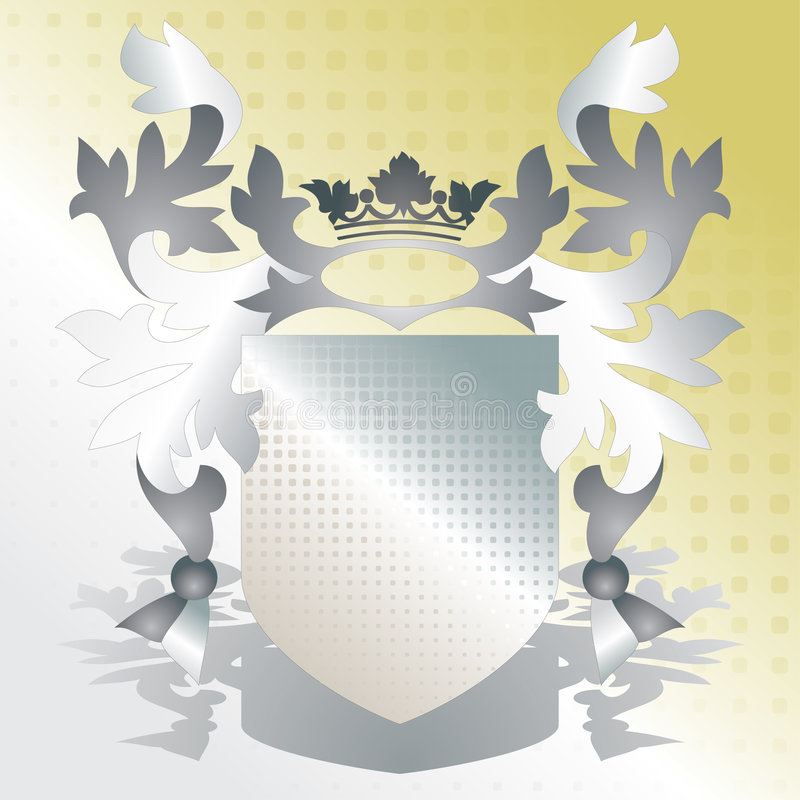 Crest Element With Raster Stock Image