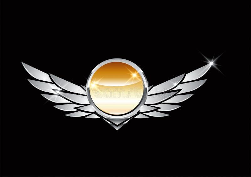 CREST met vleugels vector illustratie