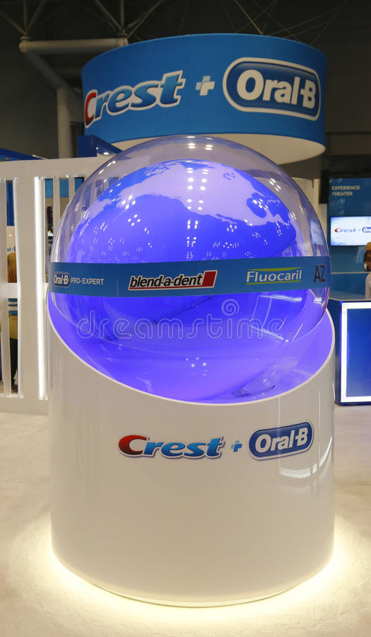 Free Crest Oral B Booth At The Greater NY Dental Meeting In New York Stock Images - 37694234