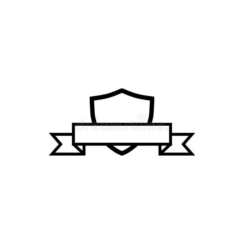 CREST-schild met de ontwerpsjabloonvector van het lintpictogram vector illustratie
