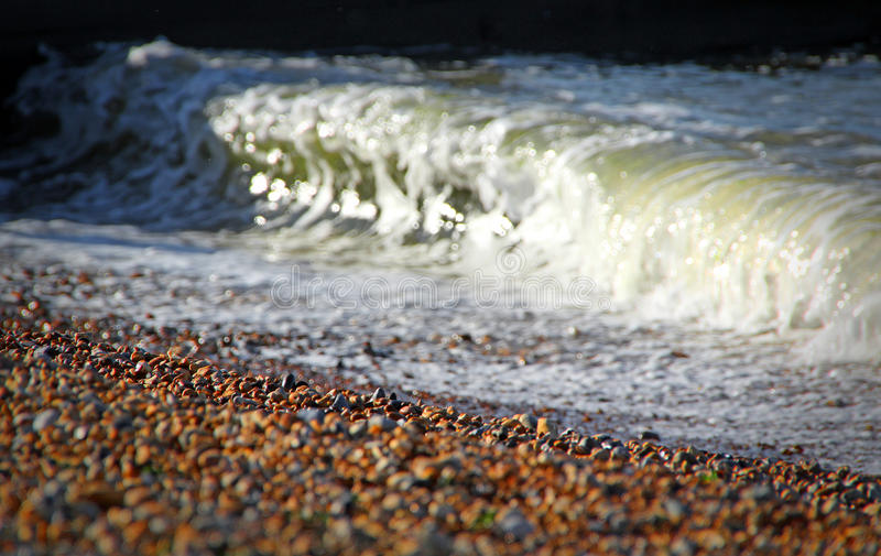Crest of a wave beach royalty free stock photography