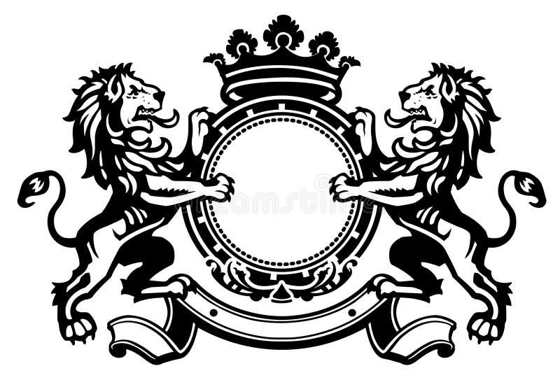 Cresta 1 del leone illustrazione vettoriale