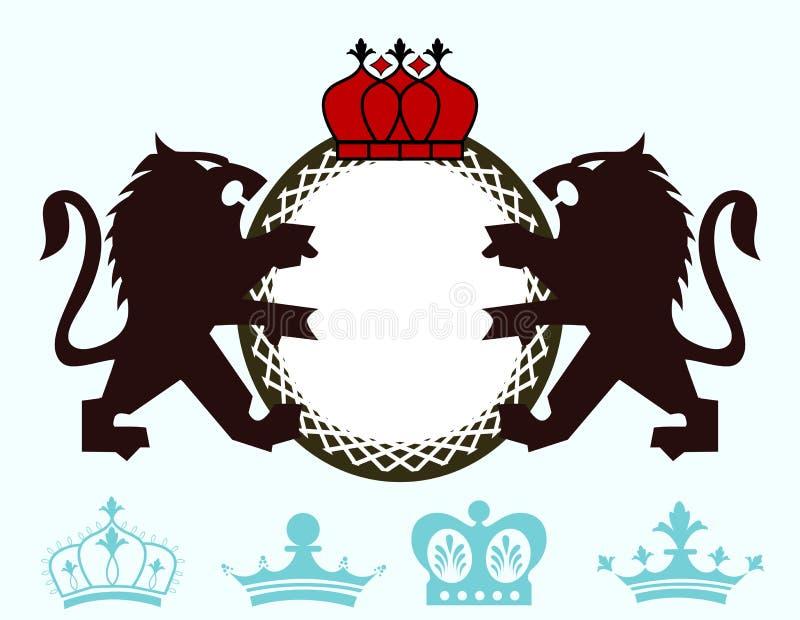 Cresta de Lion Monogram stock de ilustración