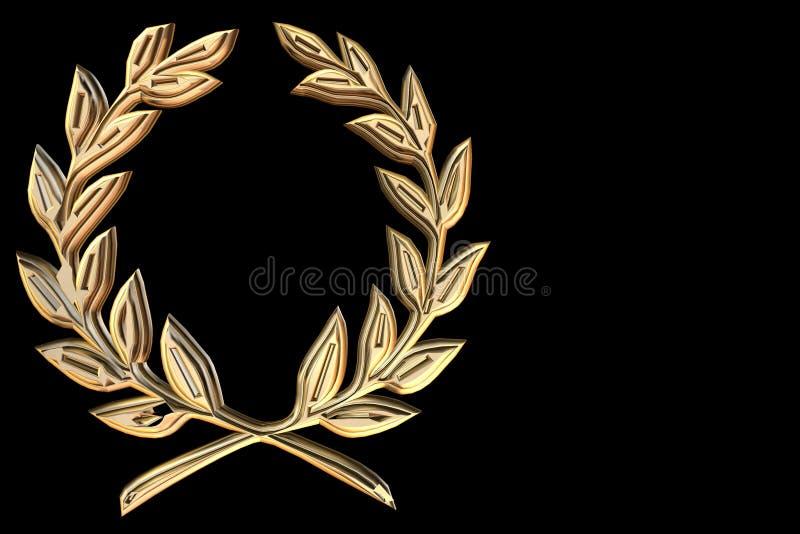 Cresta de oro de la hoja ilustración del vector