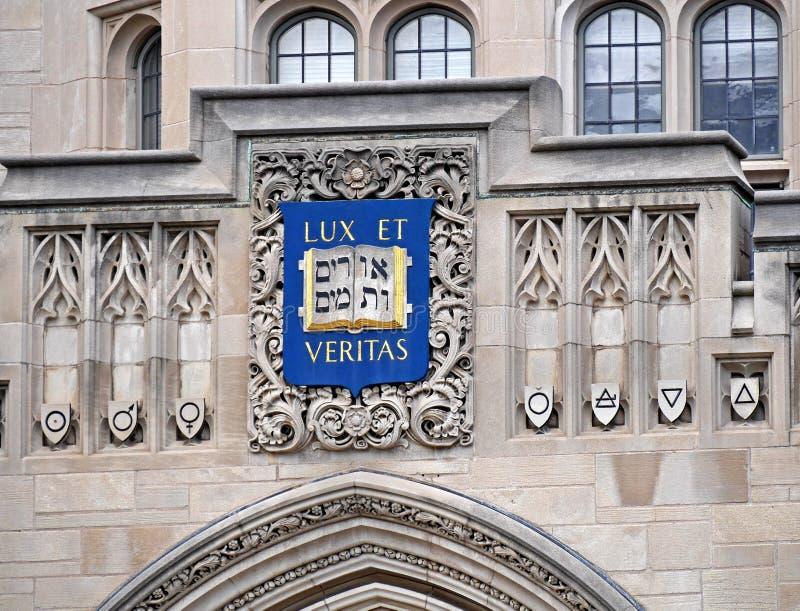 Cresta de Yale University fotos de archivo