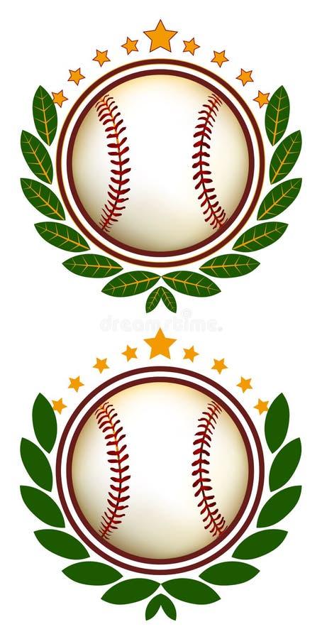 Cresta del béisbol stock de ilustración