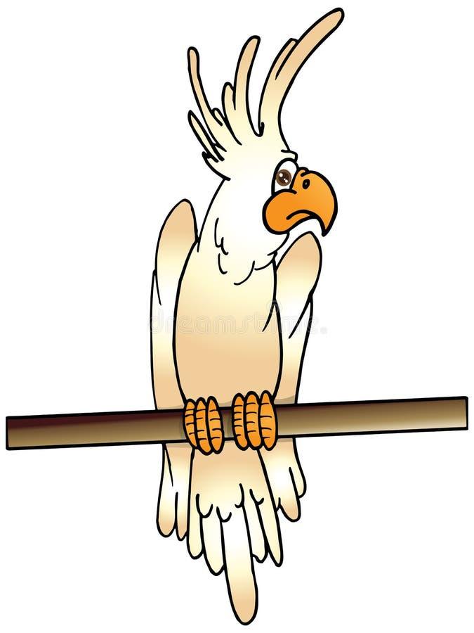 Cresta del rey del Cockatoo stock de ilustración