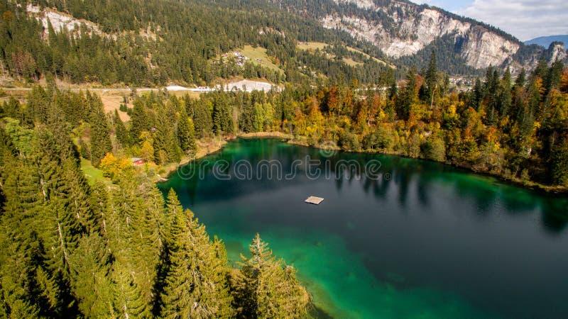 Crestasee в Швейцарии стоковое фото rf