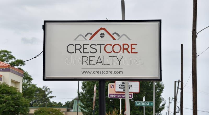 Crestcore fast egendomtecken Memphis, TN fotografering för bildbyråer
