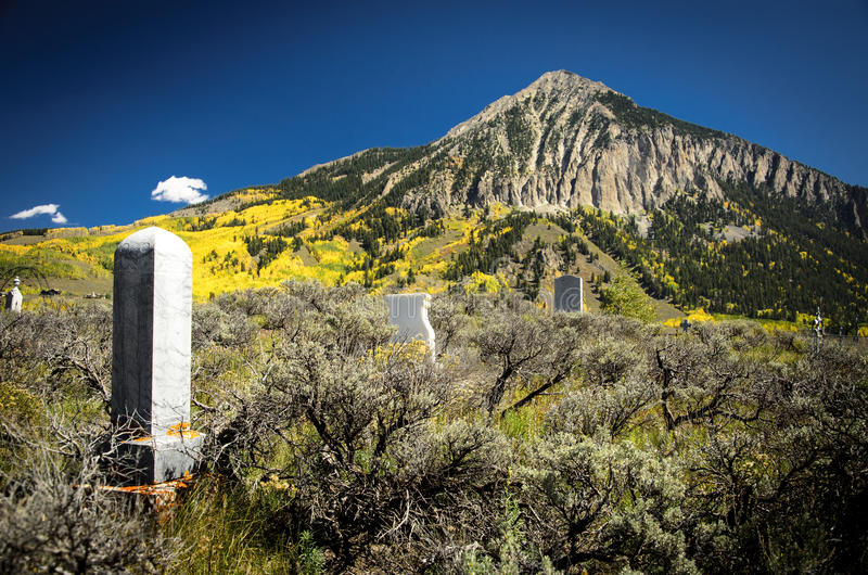 Crested Butte Cemetary 1 royalty free stock photos