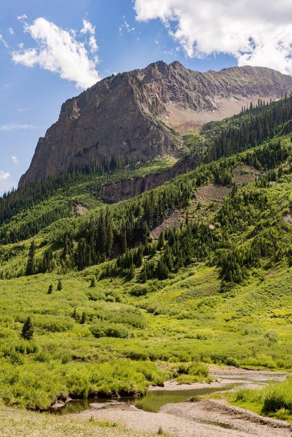 Crested Butte Colorado Mountain Landscape Stock Image ...