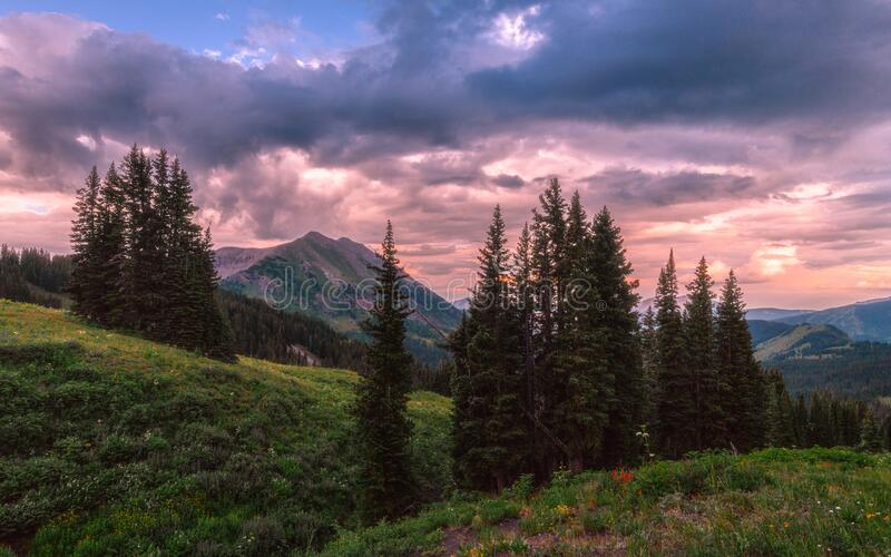 Crested Butte Sunset stock images