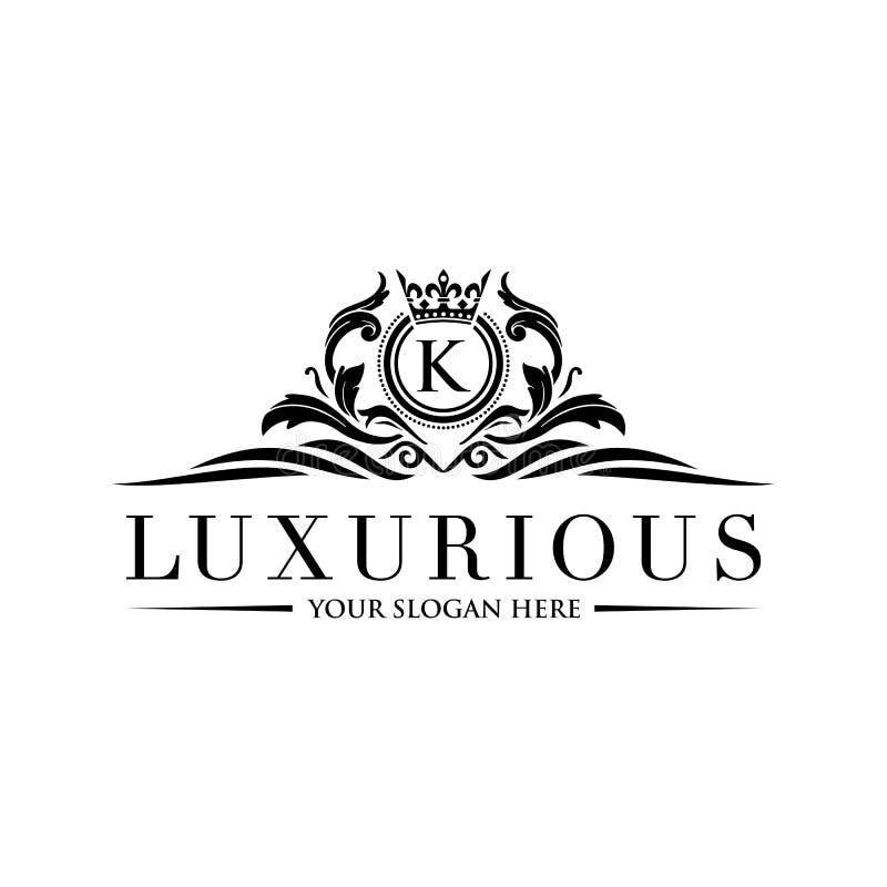 Crests il logo, il logo dell'hotel, monogramma di lusso della lettera royalty illustrazione gratis