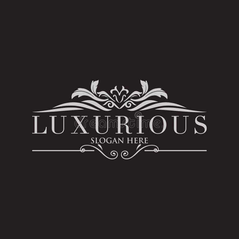 Crests o logotipo, logotipo do hotel, monograma luxuoso da letra ilustração stock