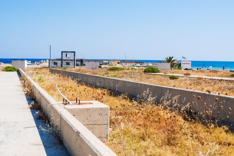 Creta abandonada da base da força aérea dos E.U., Grécia fotos de stock royalty free