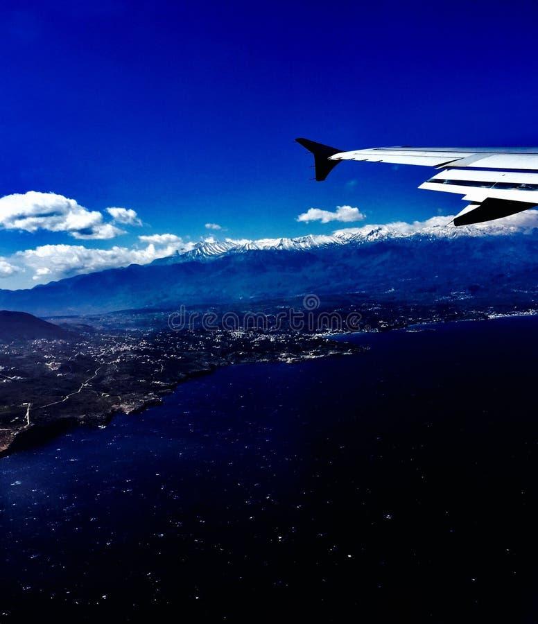 Creta mágico del aeroplano fotografía de archivo libre de regalías
