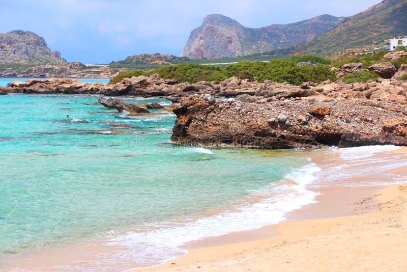 Creta - praia de Falasarna fotos de stock
