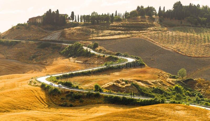 Creta Senesi (Toscânia, Itália) fotografia de stock