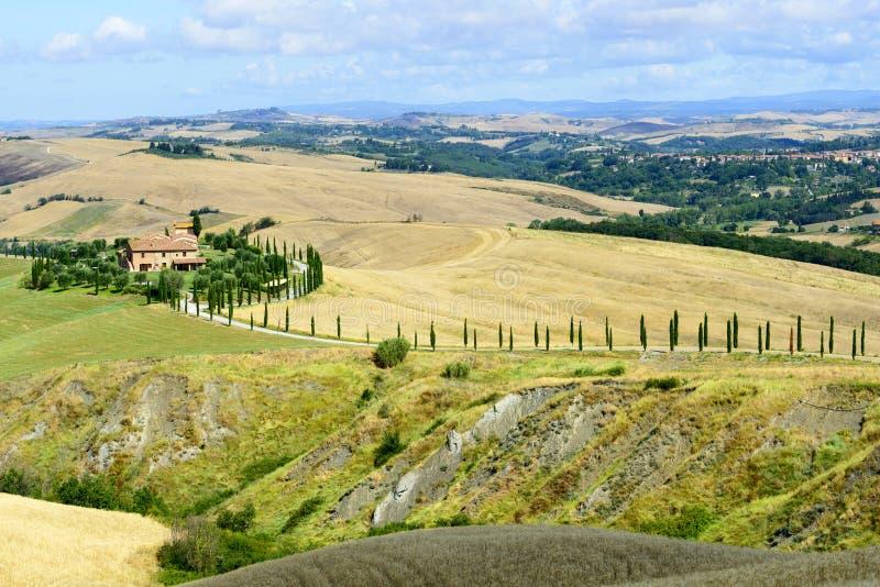Creta Senesi (Toscana, Italia) fotos de archivo libres de regalías