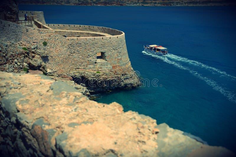 Creta - Spinalonga - ilha dos leprosos foto de stock