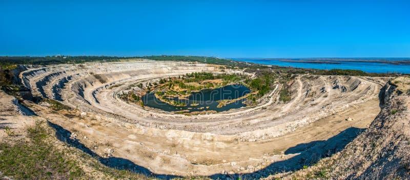 Cretaceous quarry near the banks of the Volga stock photo