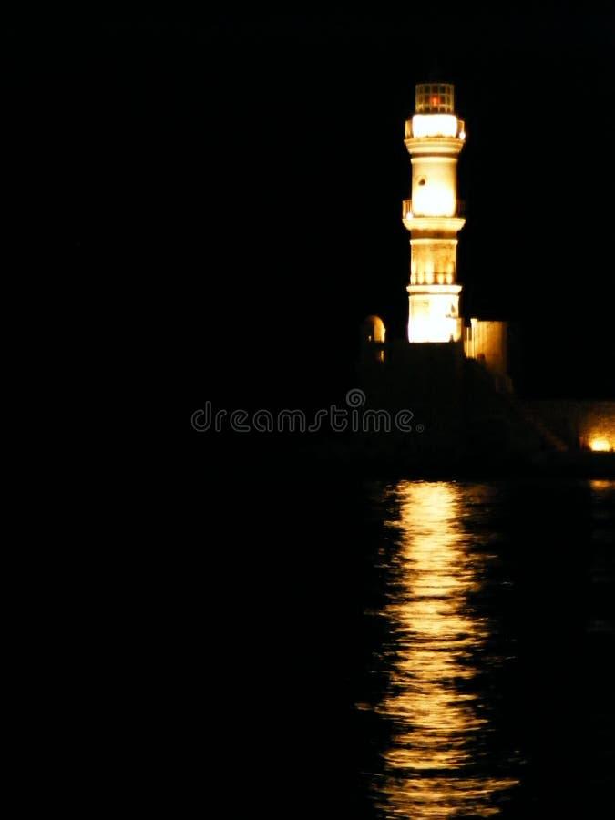 Cretan lighthouse royalty free stock photography