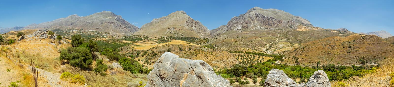 Cretan panorama, Grecja zdjęcie royalty free