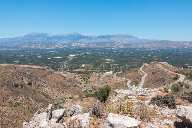 Cretanen landskap arkivbild