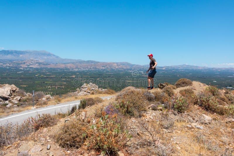 Cretanen landskap royaltyfri fotografi