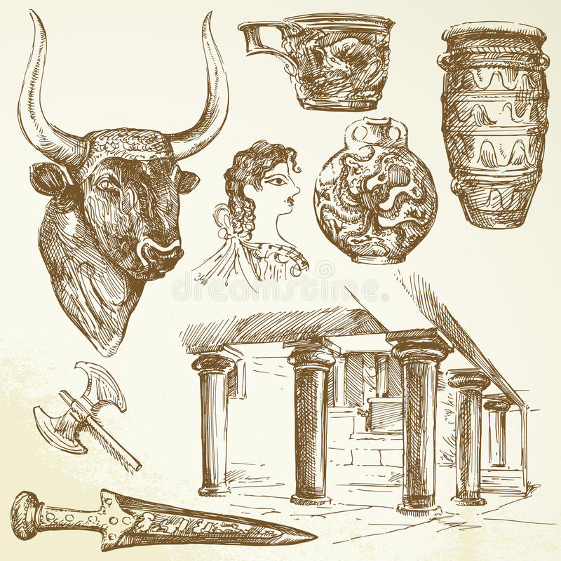 Download Crete stock vector. Image of illustration, past, fresco - 23948286