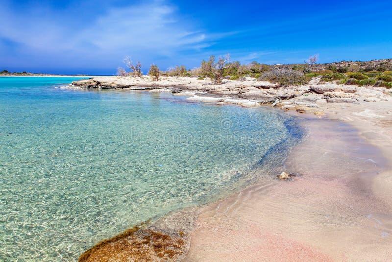 Dream Beach of Elafonisi II. Dream Beach of Elafonisi, Crete, Greece stock photo
