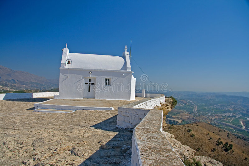 Download Crete chappel in mountains stock photo. Image of town - 3046318