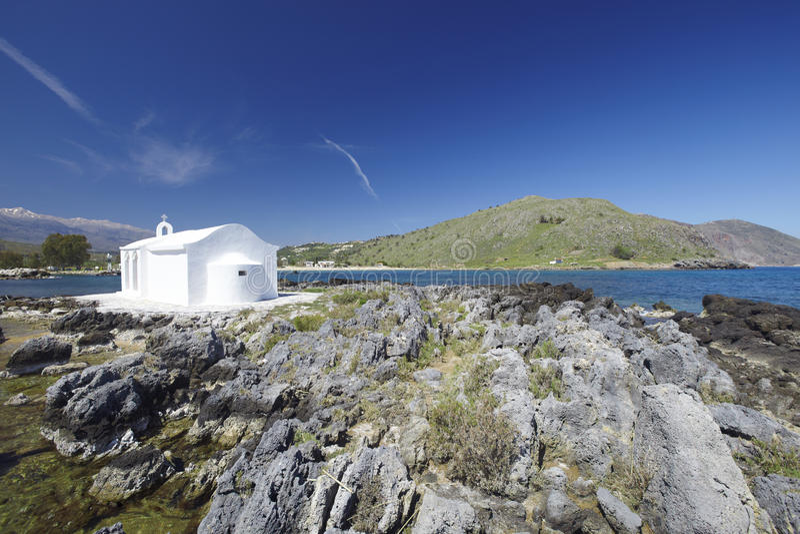 Crete, church, Greece stock photo