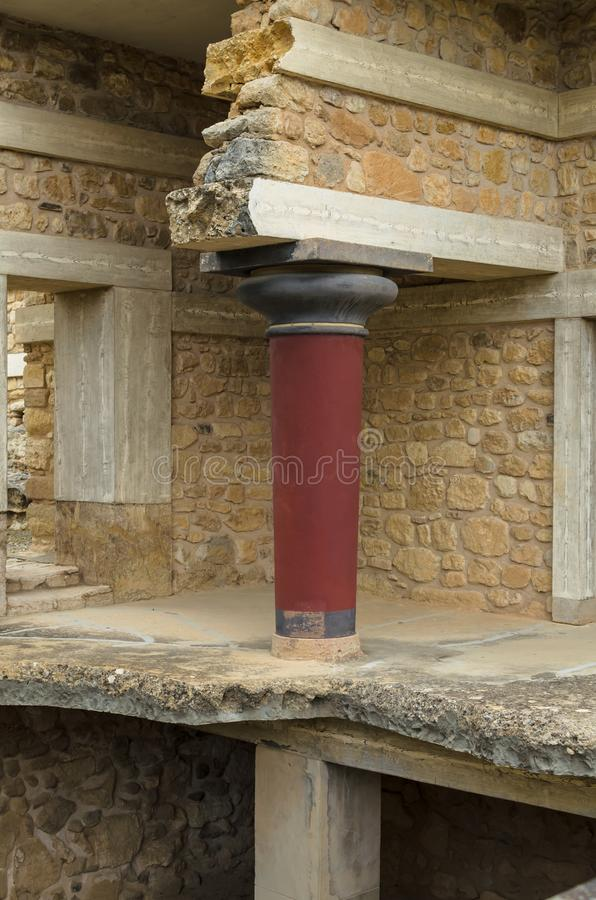 CRETE, GREECE - November 2, 2017: ancient ruines of famouse Knossos palace at Crete royalty free stock photos