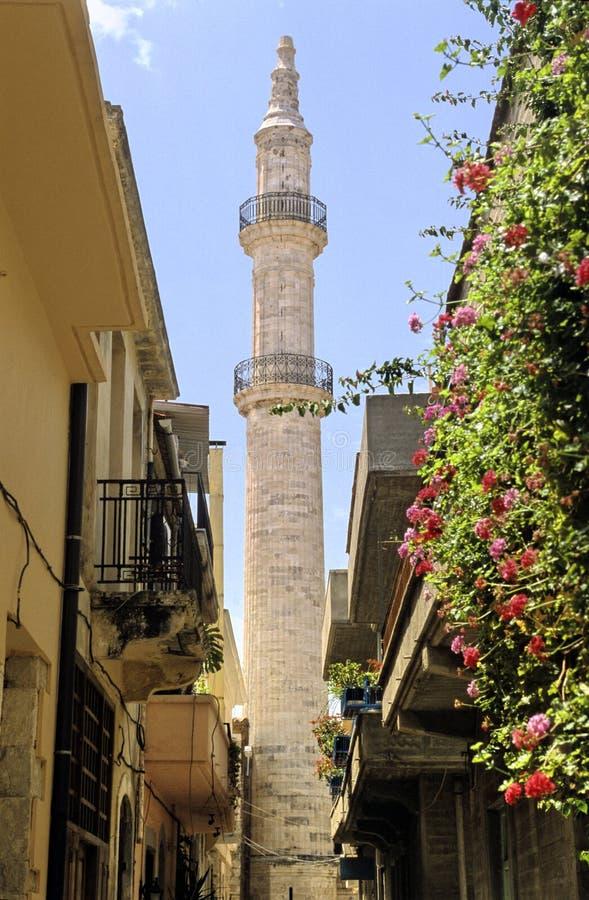 Crete il minareto fotografia stock libera da diritti