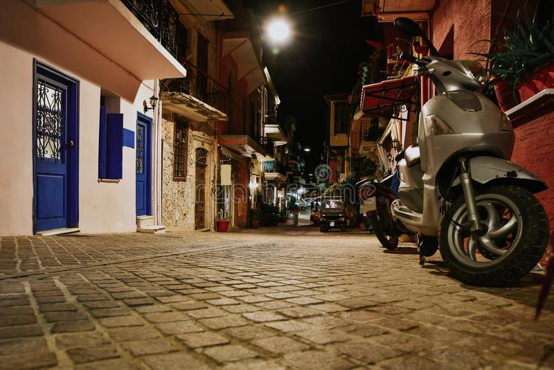 Crete island, alleys houses buildings , Greece. Architecture royalty free stock images