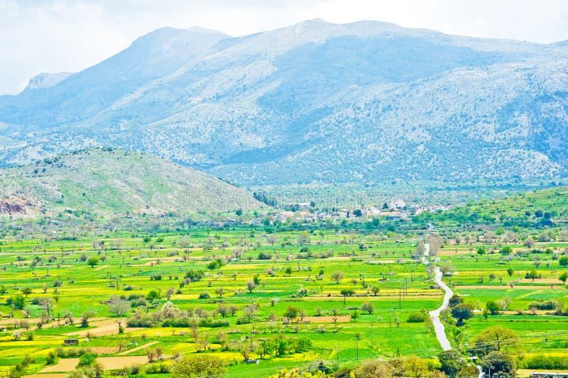crete lassithi plateau obraz stock