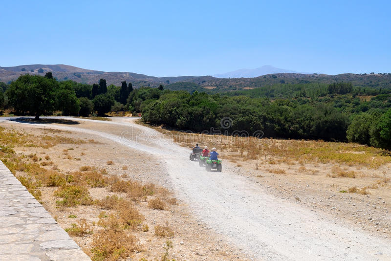 Crete offroad trip. Arkadi crete greece outdoors ATV offroad trip royalty free stock photos