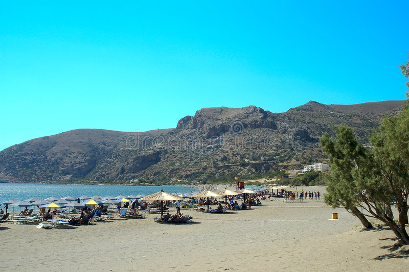 Download Crete Paleohora beach stock image. Image of landscape - 2103047