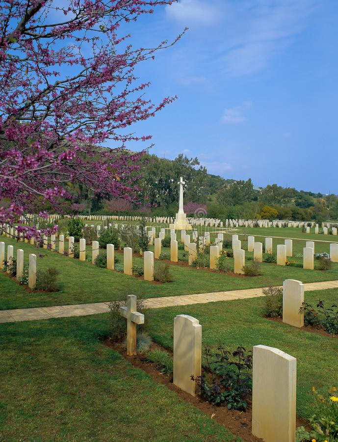 CRETE, Soudha Bay Allied War Cemetery stock photo
