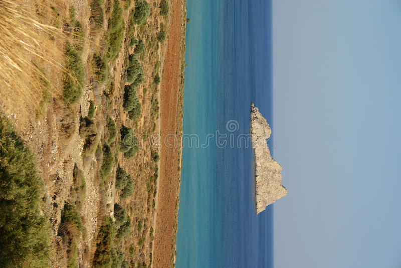 crete southcoast arkivbild