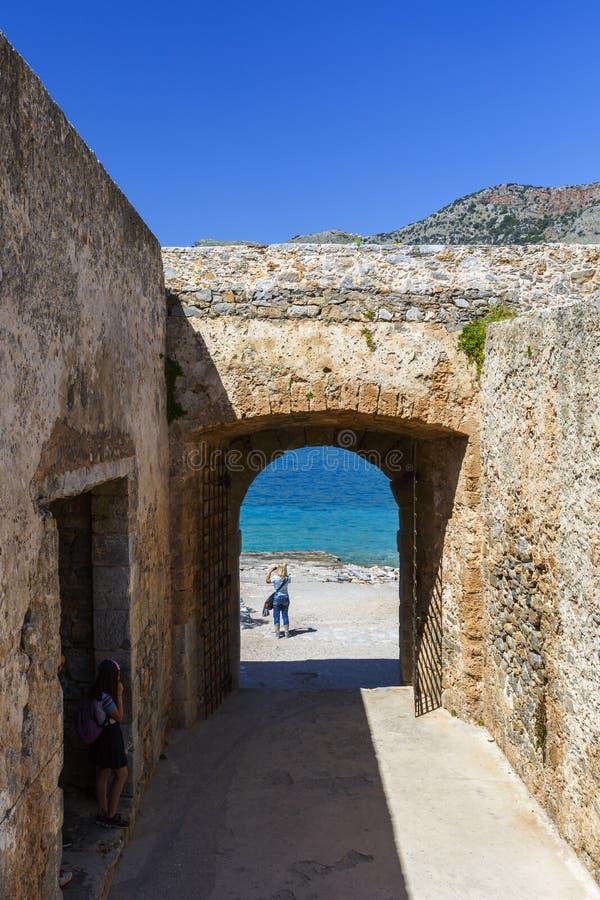 crete spinalonga obrazy royalty free