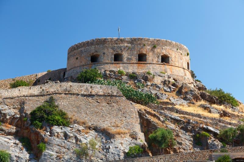 Crete Spinalonga Fortress Greece stock image