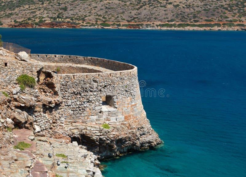 Crete Spinalonga Fortress Greece royalty free stock photography
