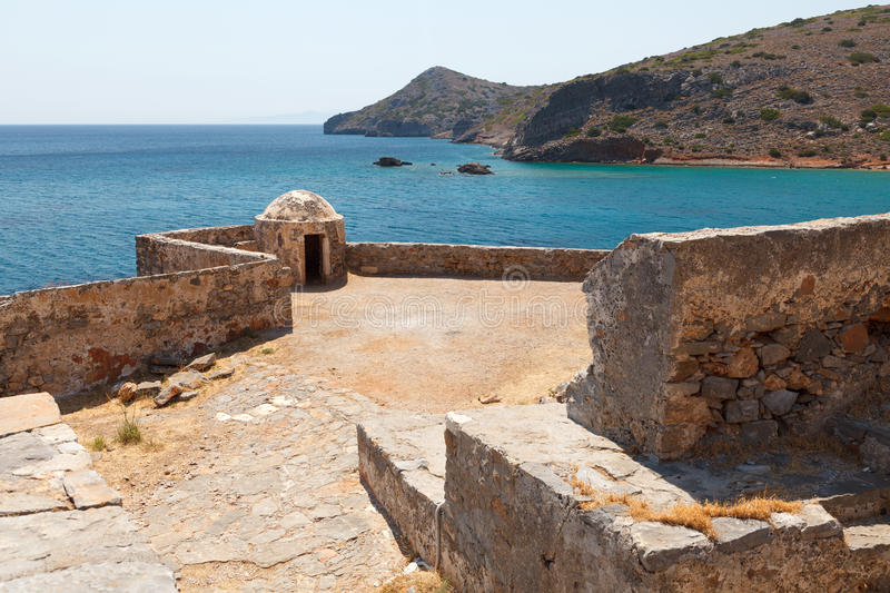 Crete Spinalonga Fortress Greece royalty free stock images