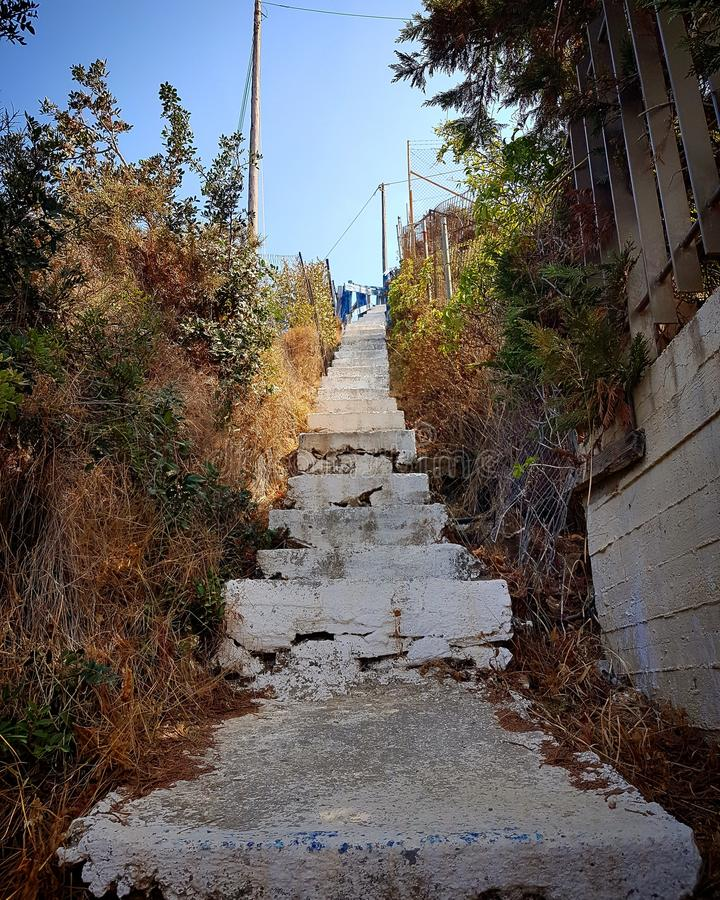 Crete stairs stock images