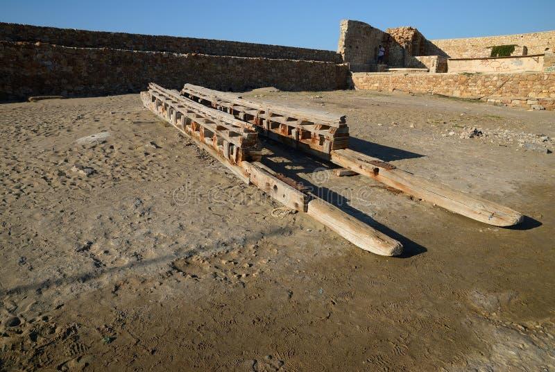 Crete Stara stocznia obraz stock