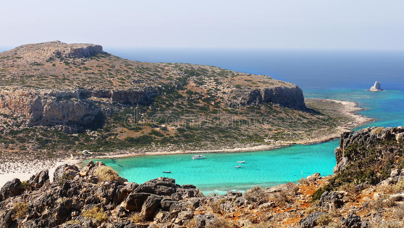 Balos Beach, Crete Island, Greece royalty free stock photo