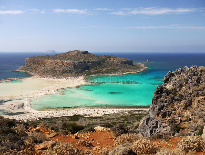 Balos Beach, Crete Island Greece stock photo